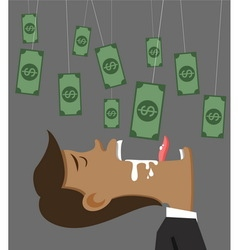 Businessman money and bait vector