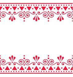 Christmas scandinavian folk art seamless pa vector