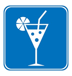 Cocktail sign is allowed to drink vector image