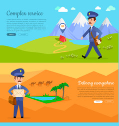 complex service delivery anywhere web banner vector image