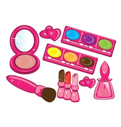 Cosmetics beauty products vector
