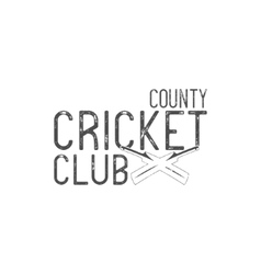 Cricket county club emblem and design vector image vector image