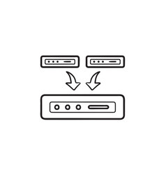 data backup hand drawn outline doodle icon vector image