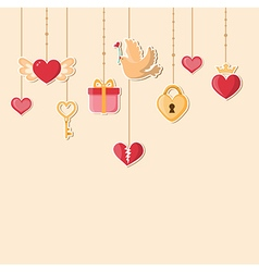 Decorative romance background vector image