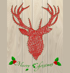 deer thread christmas vector image