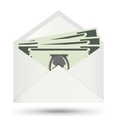 Dollar In White Envelope icon vector image