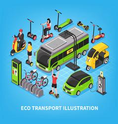 eco transport isometric vector image