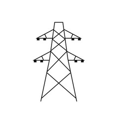 electric tower icon vector image