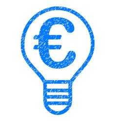 euro bulb icon grunge watermark vector image