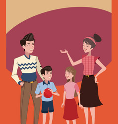 Family vintage background vector