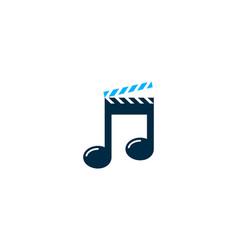 Film music logo icon design vector