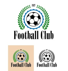Football Club tetro emblem vector image