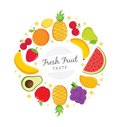 fresh fruit taste background vector image