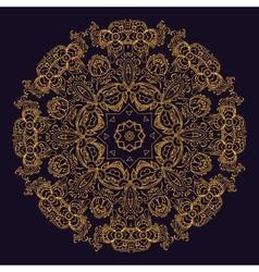 Gold indian mandala vector