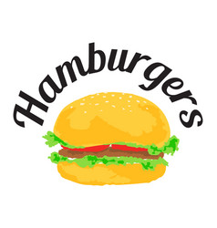 Hamburgers sticker vector