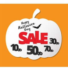 Happy Halloween Calligraphy Halloween sale banner vector