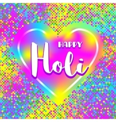 Happy Holi festival poster square card Colorful vector image