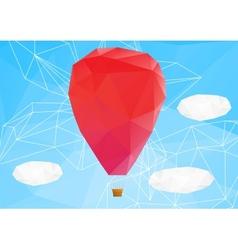 Hot air ballon poplygonal vector