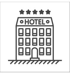 Hotel line icon vector