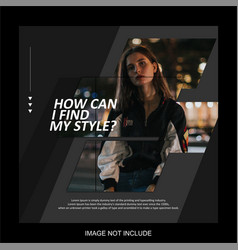 life style flyer for social media post template vector image