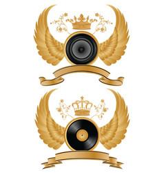 Music heraldry vector