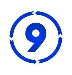number 9 icon vector image