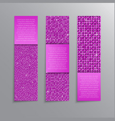Pink sequins banners card brochure probe vector