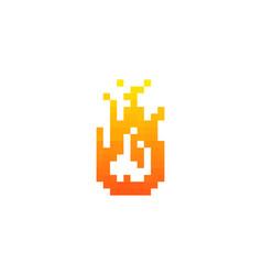 pixel fire logo icon design vector image