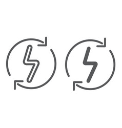 Renewable energy line and glyph icon eco and vector