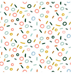 Retro abstract pattern in geometric style classic vector