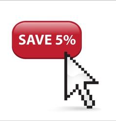 Save 5 Button Click vector
