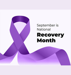September is national recovery month vector