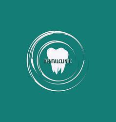 stomatological icon - white molar - isolated on vector image
