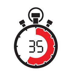 stopwatch thirty five minute vector image