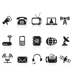 telecommunication icons vector image