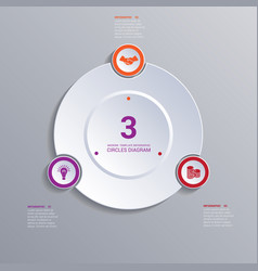 template modern infographic for 3 options vector image