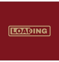 The loading icon preloader symbol Flat vector