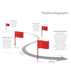 Timeline infographics with elements icons vector image