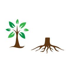 tree stump icon design set bundle template vector image