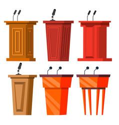 tribune stand empty podium with speech vector image