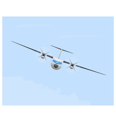 Turboprop airplane in flight vector image