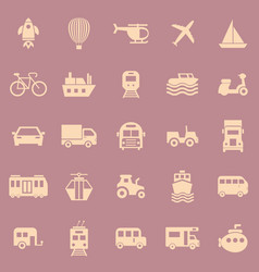 vehicle color icons on red background vector image