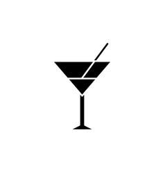Vermouth black glyph icon vector
