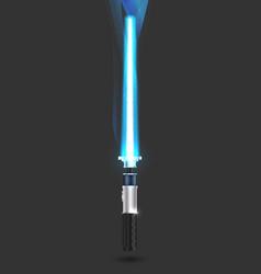 With futuristic sword vector