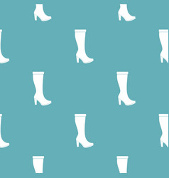 Woman boots pattern seamless vector