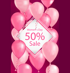 Womens day 8 march holiday shopping sale special vector