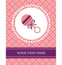 baby background with rattle vector image vector image