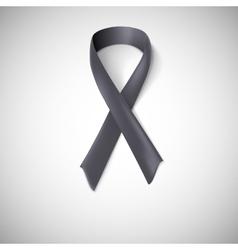 Black ribbon loop vector