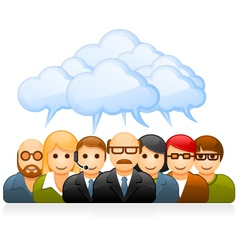 Brainstorming business team vector image vector image