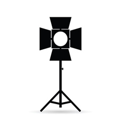 Lighting for old camera in black vector